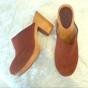Charlotte Stone Wooden Clogs